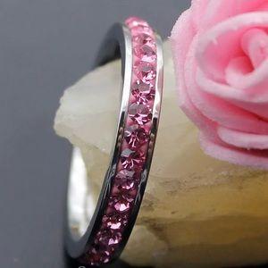 Jewelry - 🌸KUNZITE ETERNITY BAND set in STERLING SILVER🌸