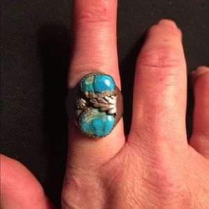 Jewelry - vintage 925 Navajo Turquoise southwestern Ring