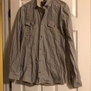 Men's L Designer Buffalo David Bitton Casual Shirt