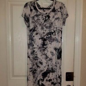 Acid washed high low dress LARGE