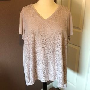 Plus size 3X top by Vera Wang