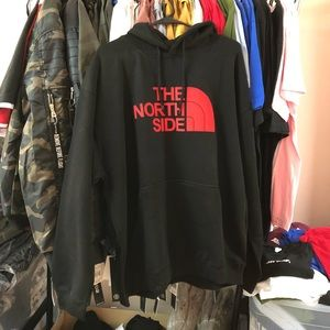 🚫Sold🚫The North Side Hoodie - Black w/ Red