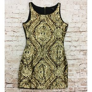 XoXo Gold Sequin Party Dress