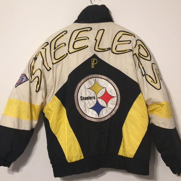 best service b6d32 92804 Steelers pro player jacket rare 75th starter