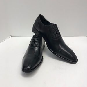 Men's Black Dress Shoes Amali Leather Uppers