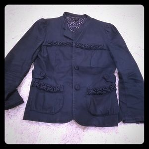 Marc by Marc Jacobs navy blue cotton blazer