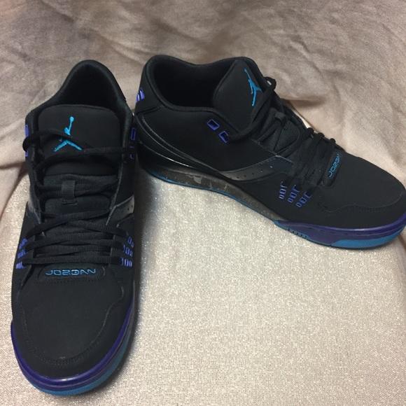 Men's Jordan black blue purple sneakers