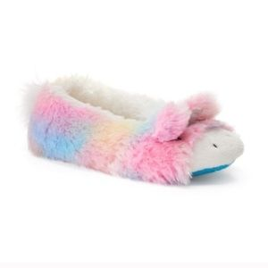 Shoes - Rainbow unicorn ballerina slippers