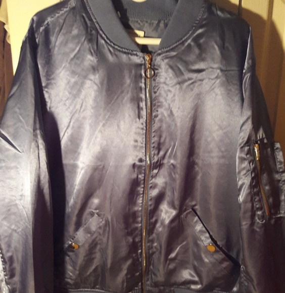 7d382f9d1d3 Angel Kiss Jackets   Blazers - Plus Size Powder Blue Bomber Jacket