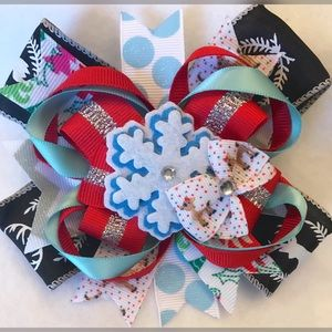 Other - Snowflake Christmas Bow