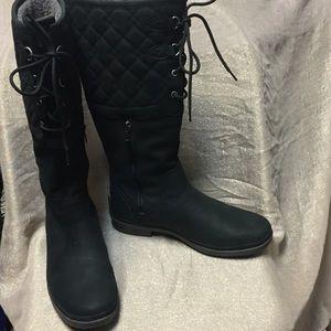08edc1e6d06 Women's UGG Elsa Deco Quilt Black Boots