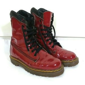 Vtg red patent leather dr martens