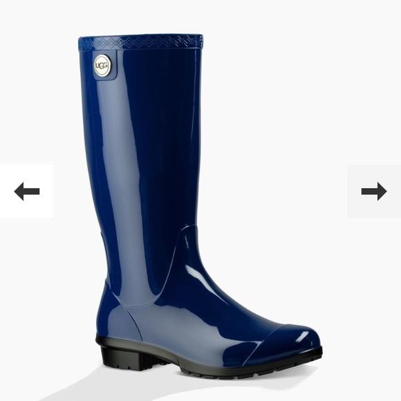 6a30d964e78 NEW UGG SHAYE RAIN BOOTS BLUE JAY