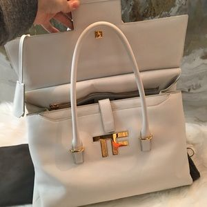 f5f4007dc1 Tom Ford Bags - Tom Ford Large White Leather Icon Satchel Bag
