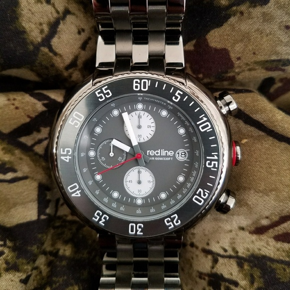 redline accessories driver gray mens watch poshmark
