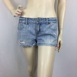 PINK Victoria's Secret Distressing Mini Jean Short