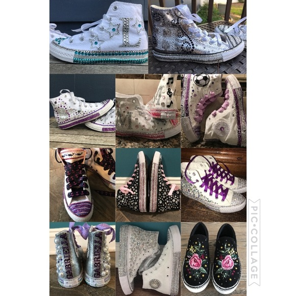 c21c0f4a7d87 Custom Bling Converse Made To Order Kids Adults