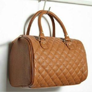 Quilted satchel