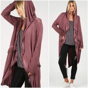 🆕Vivian Hooded Safari Jacket in Plum