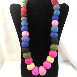 Jewelry - Felt Ball Necklace