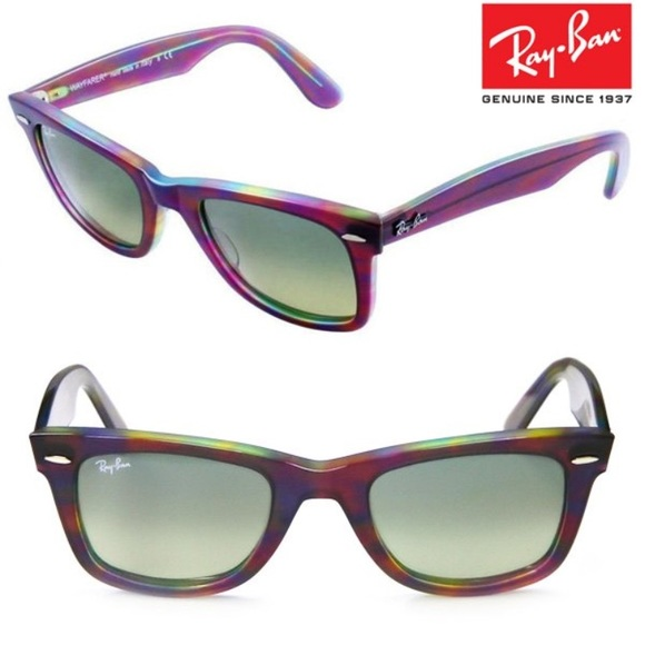 Ray-Ban Sunglasses Wayfarer Violet   Multicolor. M 5a20aaa113302aa477007f62 828111fc89