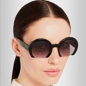 Miu miu acetate black sunglasses. NIB.