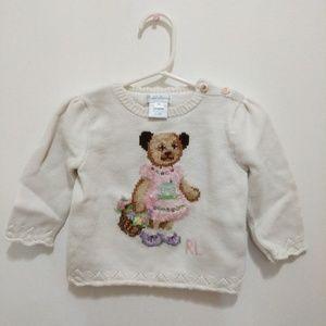 092cba44593ef Ralph Lauren Shirts   Tops - Baby Girl Polo Bear Cotton Sweater