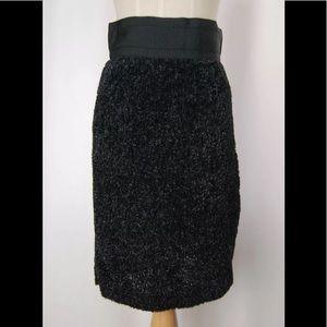 🔥 SACAI lame glitter pencil midi black skirt knit