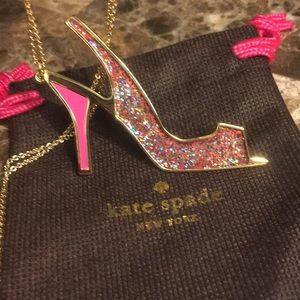 Kate Spade Shoe in Glitter Heel pendant Necklace