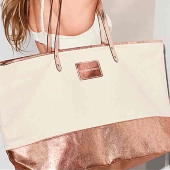 0380a98d9f1 SALE Victoria s Secret Rose Gold Tote