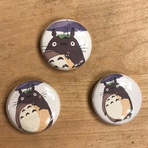 Totoro Button Pins🌱✨ 3 Pack!