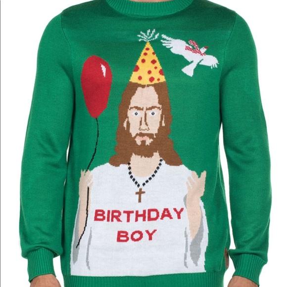d80a44c9ee1d Men s Tipsy Elves Birthday Boy Sweater