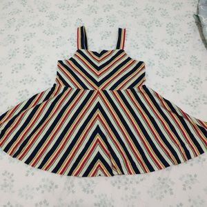 Toddler Striped Fit and Flare Ralph Lauren Dress