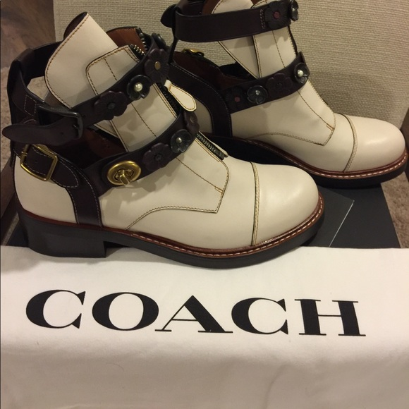 cae88371f6 Coach moto cut out boots size 9 New NWT