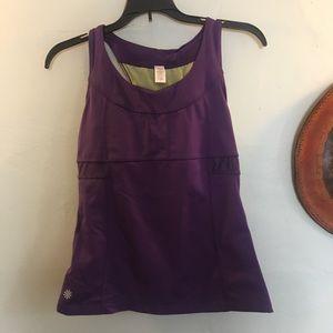 Athleta purple workout top size small