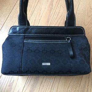 Small black Nine West bag with leather straps