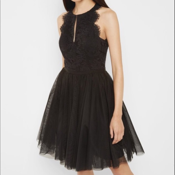 6bfdcbb040 Ted Baker Black Tulle and Lace dress SZ 2. M_5a20ba11620ff729cd00d794