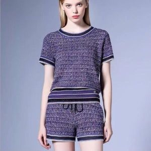 Sweaters - Knit shorts t-shirt suit set designer Luxury
