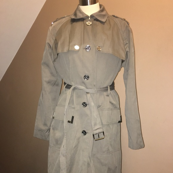 professional sale big discount sale limpid in sight Woman XL MK Michael Kors trench coat rain jacket
