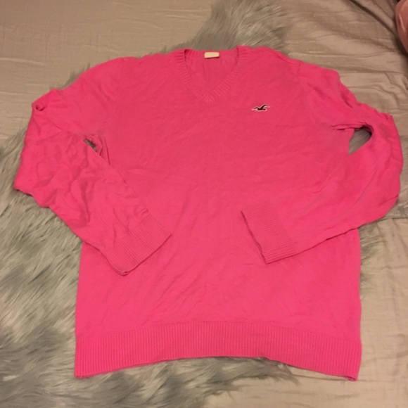 53% off Hollister Tops - Pink holiday sweater from Rachael's ...