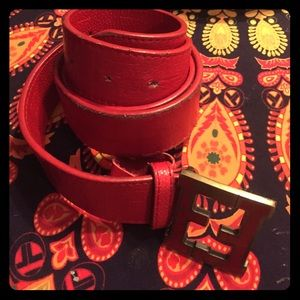 Distressed Fendi Belt