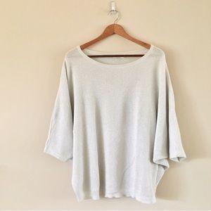 LF | Millau Silver Metallic Sweater