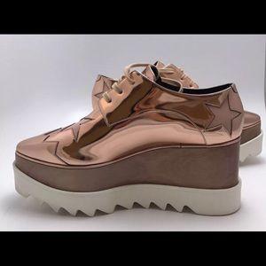 ad05af14e4f Stella McCartney Shoes - Stella McCartney Elyse Rose Gold Platform 38