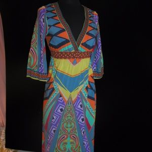 Funky vintage maxi dress - FAB Colors