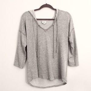 H.I.P. • 3/4 sleeve super lightweight hoodie