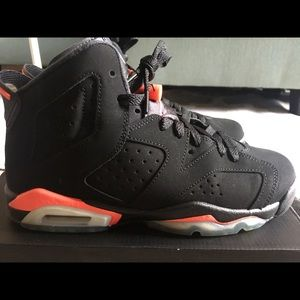 low priced a543f 53e44 ... 23 black 384664 023 596a6 803cf  switzerland air jordan shoes air jordan  6 black infrared size 6.5y euro 39 40a04 d2cfa