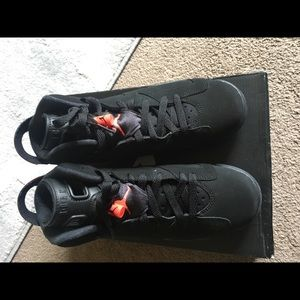 factory price 8e843 a96d4 ... switzerland air jordan shoes air jordan 6 black infrared size 6.5y euro  39 40a04 d2cfa