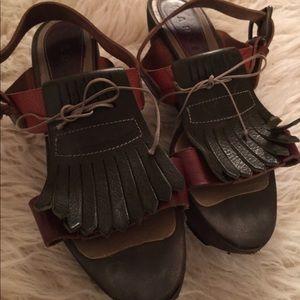 Marni Sandal saddle shoes super cute! I love these