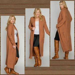 Sweaters - 🌟New Arrival Plus Size Ribbed Duster Sweater🌟