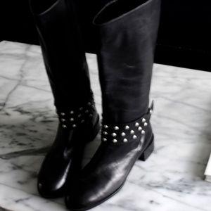 ZARA black leather boots size 41
